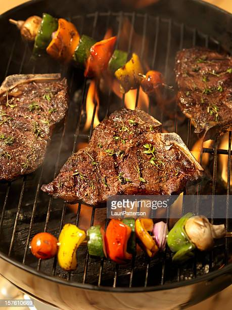 Bistecca Porterhouse spiedini con verdure