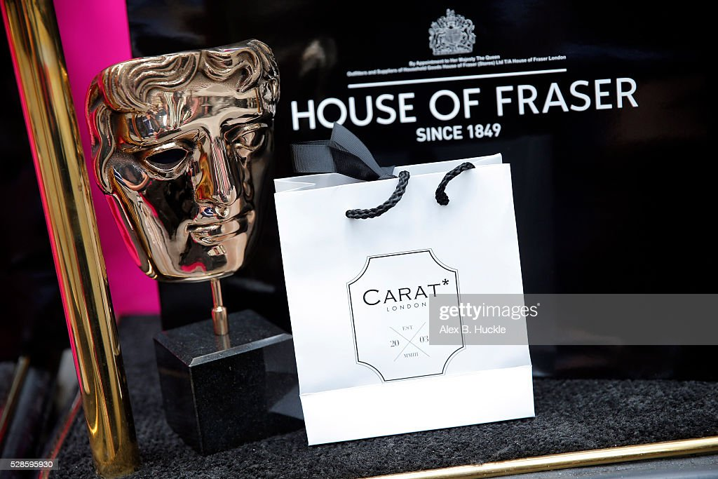 Porters at the Mondrian hotel take in a delivery of dresses and accessories ahead of this weekend's House of Fraser British Academy Television Awards on May 6, 2016 in London, England. Nominees will get ready at the hotel before making the short journey to the red carpet at Royal Festival Hall, ahead of the ceremony on Sunday 8th May.