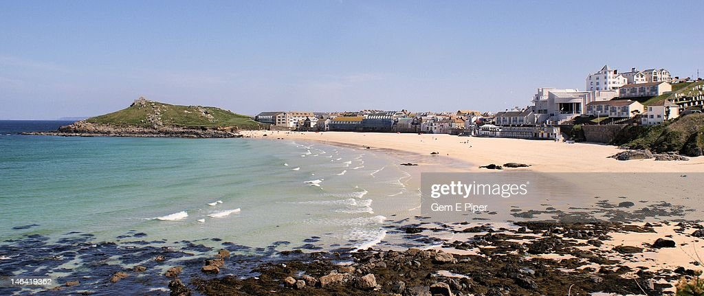 Porthmeor beach, St. Ives Cornwall : Stock Photo