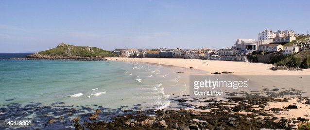 Porthmeor beach, St. Ives Cornwall : Stock Photo