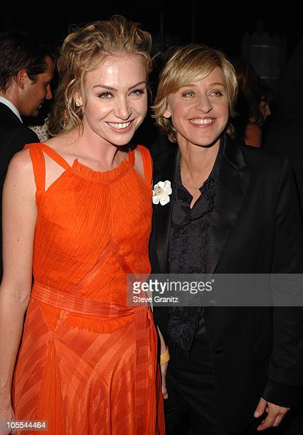 Portia de Rossi and Ellen DeGeneres during The 57th Annual Emmy Awards Governors Ball at Shrine Auditorium in Los Angeles California United States