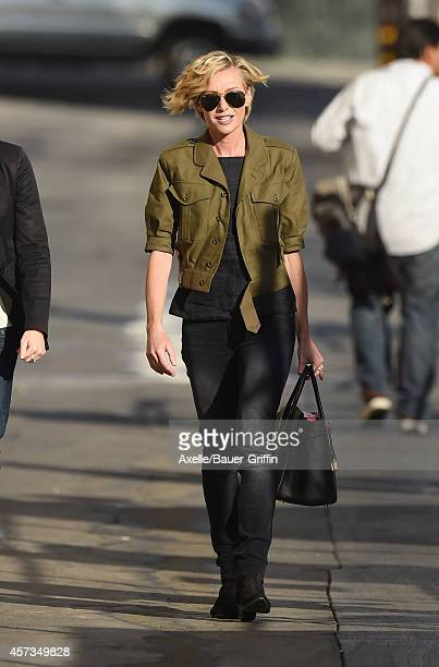 Portia de Rossi is seen at 'Jimmy Kimmel Live' on October 16 2014 in Los Angeles California