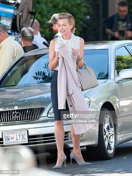 Portia de Rossi is seen on set of 'Scandal' on September 10 2014 in Los Angeles California