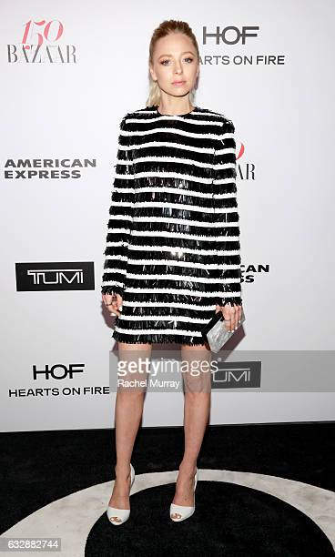 Portia Doubleday attends Harper's BAZAAR celebration of the 150 Most Fashionable Women presented by TUMI in partnership with American Express La...