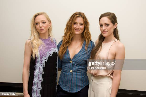 Portia Doubleday Grace Gummer and Carly Chaikin at the 'Mr Robot' Press Conference at the Four Seasons Hotel on June 5 2017 in Beverly Hills...