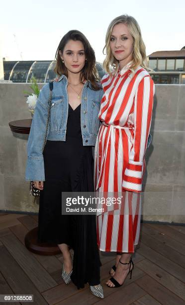 Portia Freeman and Sai Bennet attend a Fine Tailoring Dinner hosted by Charlie CaselyHayford and Topman at The Ned on June 1 2017 in London England