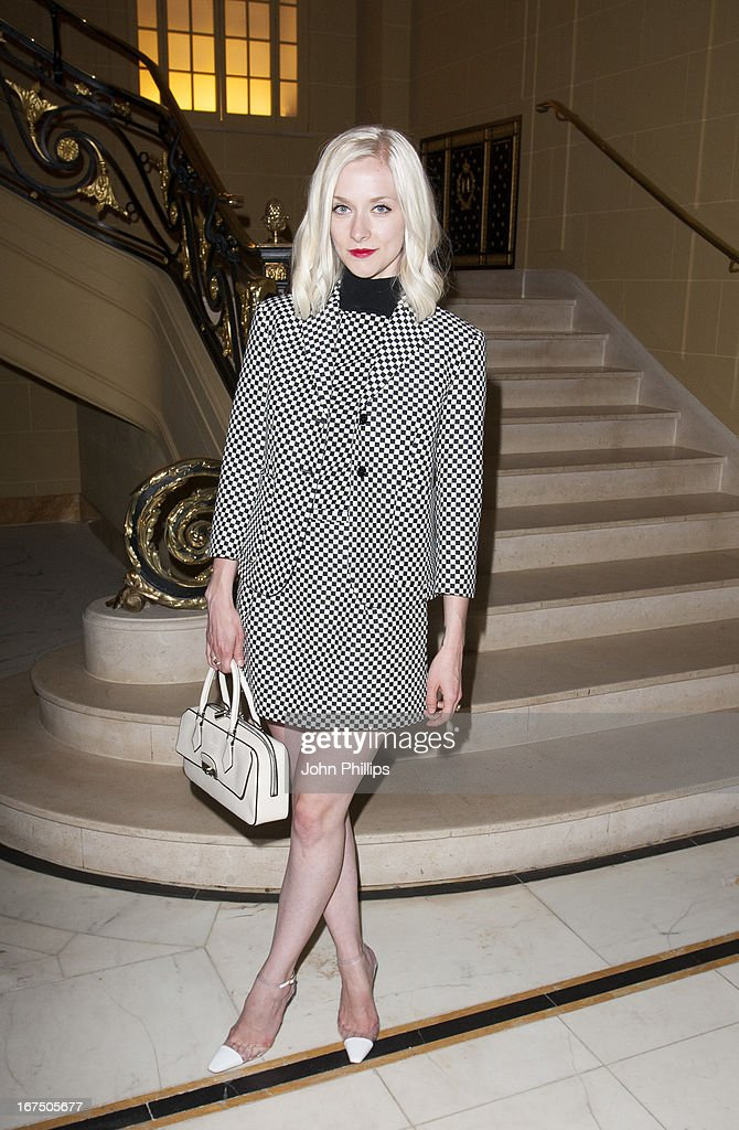 Portia Freeman attends a Vogue dinner hosted by Alexandra Shulman in honour of Michael Kors at Cafe Royal on April 25, 2013 in London, England.