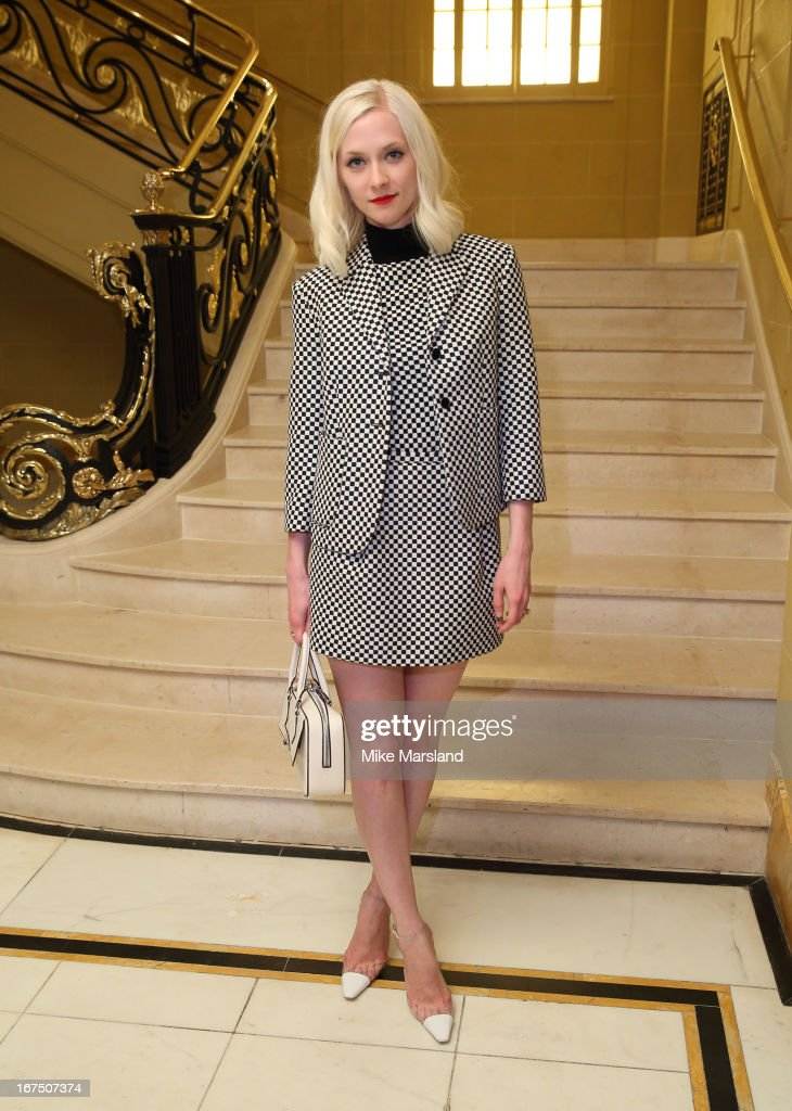 <a gi-track='captionPersonalityLinkClicked' href=/galleries/search?phrase=Portia+Freeman&family=editorial&specificpeople=2348960 ng-click='$event.stopPropagation()'>Portia Freeman</a> attends a Vogue dinner hosted by Alexandra Shulman in honour of Michael Kors at Cafe Royal on April 25, 2013 in London, England.