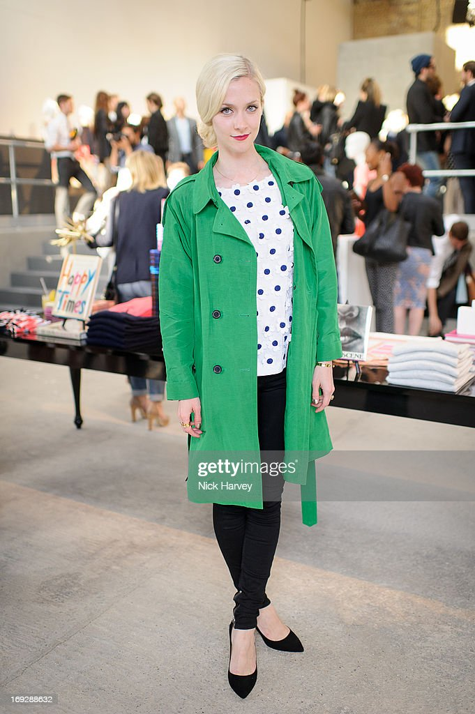 <a gi-track='captionPersonalityLinkClicked' href=/galleries/search?phrase=Portia+Freeman&family=editorial&specificpeople=2348960 ng-click='$event.stopPropagation()'>Portia Freeman</a> attends private event to celebrate J.Crew And Central Saint Martins partnership at J.Crew on May 22, 2013 in London, England.