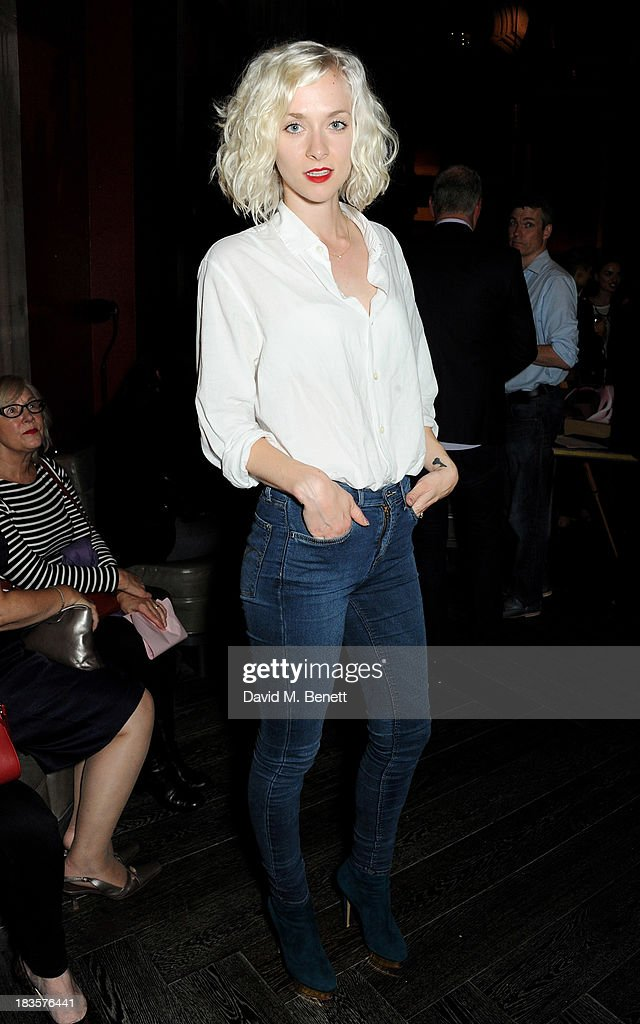 <a gi-track='captionPersonalityLinkClicked' href=/galleries/search?phrase=Portia+Freeman&family=editorial&specificpeople=2348960 ng-click='$event.stopPropagation()'>Portia Freeman</a> attends the 'Models & Mothers' private view, an exhibition of photographs by Morwenna Lytton Cobbold, at The Gilbert Scott restaurant in the St Pancras Renaissance Hotel on October 7, 2013 in London, England.