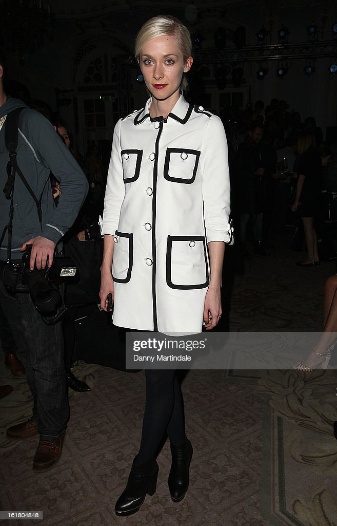 Portia Freeman attends the Moschino cheap&chic show during London Fashion Week Fall/Winter 2013/14 at The Savoy Hotel on February 16, 2013 in London, England.