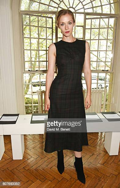 Portia Freeman attends the Pringle Of Scotland Womenswear Spring/Summer 2017 LFW Show at One Marylebone on September 19 2016 in London England