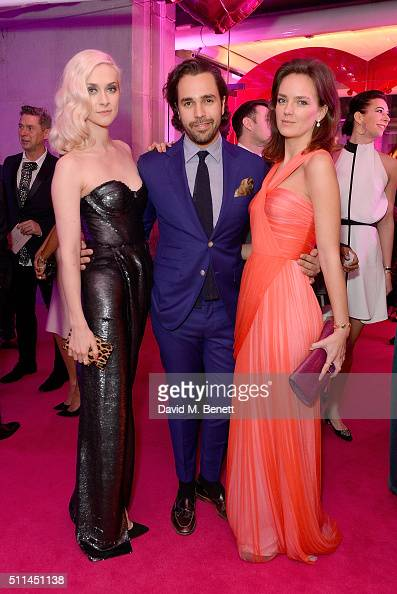 Portia Freeman Diego BiveroVolpe and Charlotte Caroll at The Naked Heart Foundation's Fabulous Fund Fair in London at Old Billingsgate Market on...