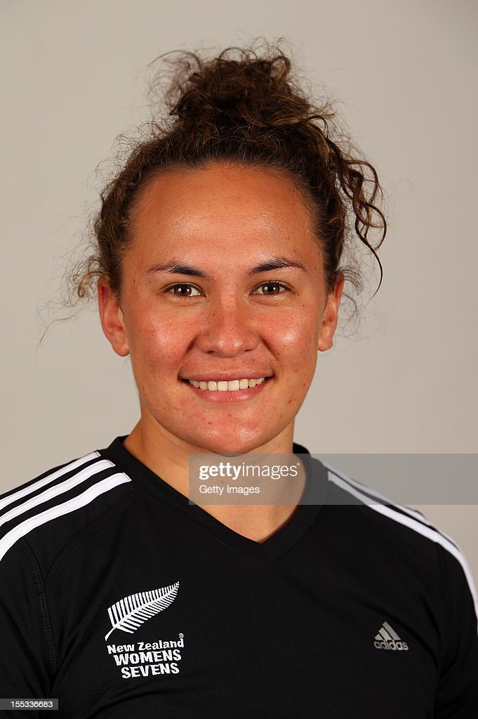 Portia Woodman poses for a headshot during the New Zealand Womens Rugby Sevens headshot session at Pulman Lodge on November 3, 2012 in Auckland, New Zealand.