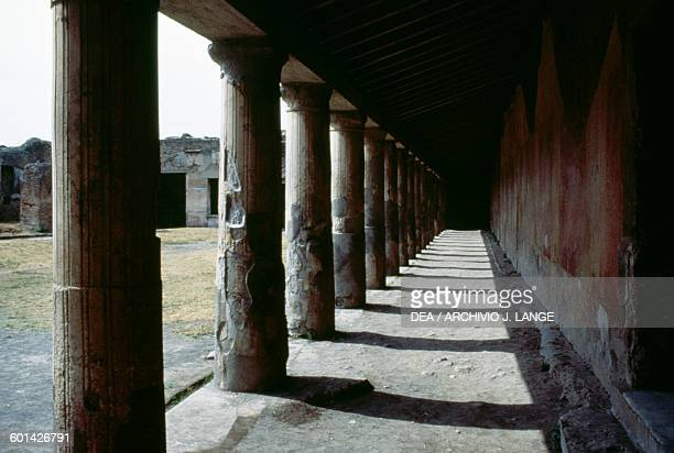 Portico of the palaestra Stabian Baths Pompeii Campania Italy Roman civilisation 2nd century BC