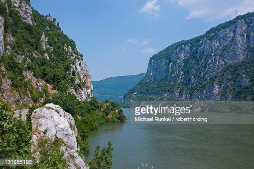 Portille de Fier (Iron gate), River Danube, Danube Valley, Romania, Europe