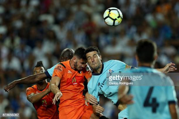 Portimonense SC defender Ruben Fernandes from Portugal vies with FC Porto defender Ivan Marcano from Spain during the PreSeason Friendly match...