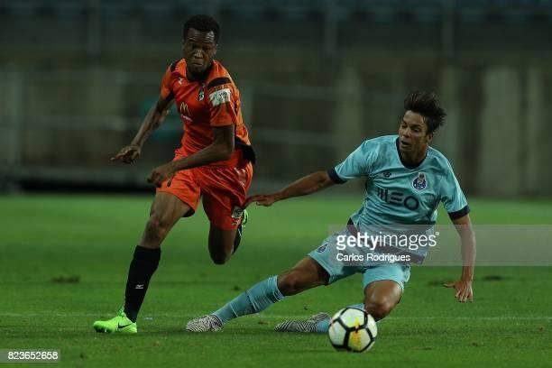 Portimonense SC forward Wellingthon Carvalho from Brazil escape FC Porto midfielder Oliver Torres from Spain during the PreSeason Friendly match...