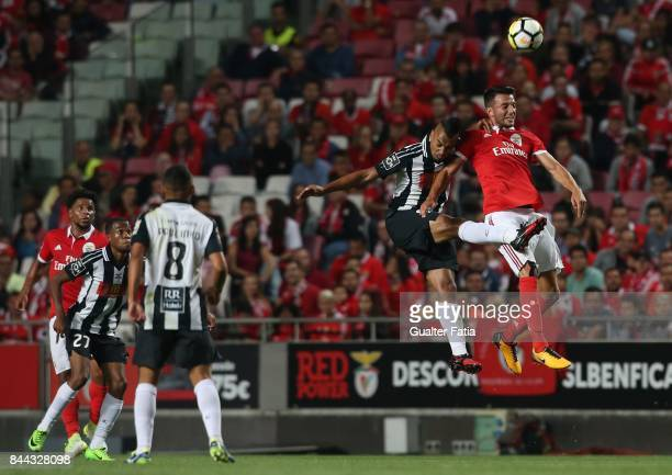 Portimonense SC midfielder Fabricio Messias from Brazil with SL Benfica midfielder Andreas Samaris from Greece in action during the Primeira Liga...