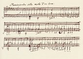 Portion Of The Ms Of Ludwig Van Beethoven's A Flat Major Sonata Op 26