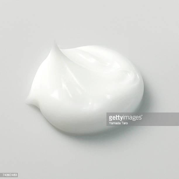 Portion of white cream, close-up