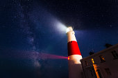 Portland Bill Lighthouse, Milky Way Dorset England