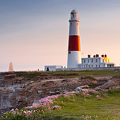 The lighthouse on the isle of Portland near to Weymouth in Dorset.