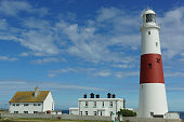 Portland Bill lighthouse located in Portland, UK