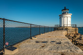Portland Breakwater Lighthouse built in 1875. Dubbed 'Bug Light' due to its small size.
