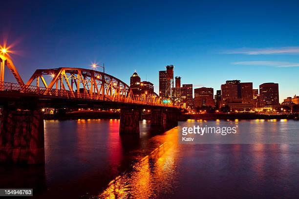 El centro de la ciudad de Portland
