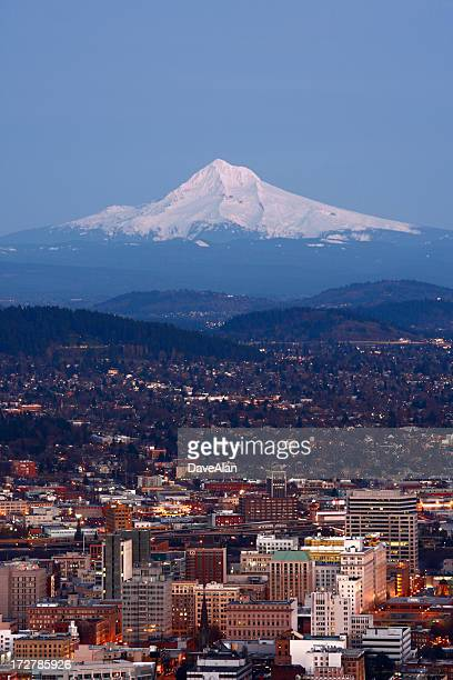 Portland al atardecer.