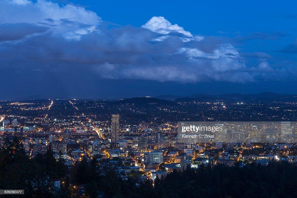 Portland dusk : Stock Photo