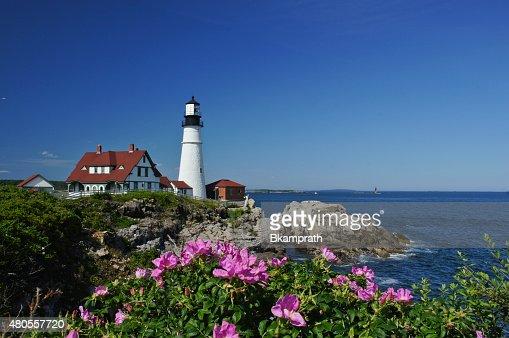 Portland Head Light Lighthouse in Maine : Stock Photo