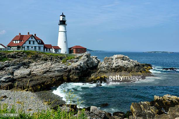 portland head lighthouse stock photos and pictures getty