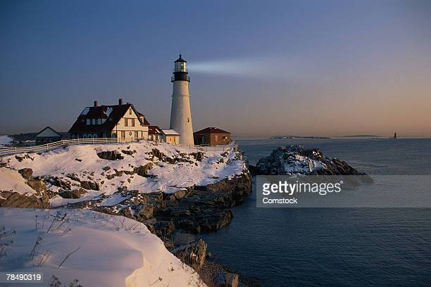 Portland Head Lighthouse , Cape Elizabeth , Maine
