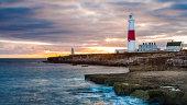 Portland Lighthouse, Jurassic Coast, Dorset, UK.