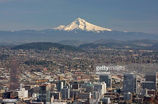 Portland, Oregon and Mt. Hood