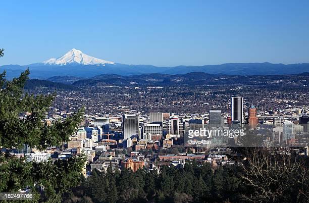 Monte Hood paisaje de la ciudad de Portland, Oregon