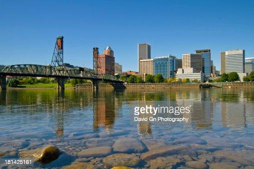 Portland Oregon Downtown Skyline Reflection