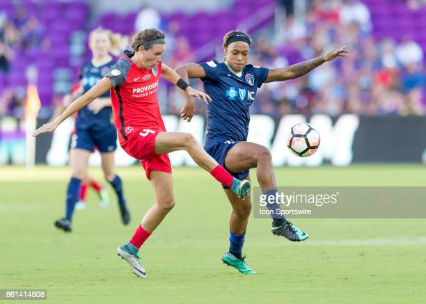 Portland Thorns FC defender Emily Menges challenges for the ball possession during the NWSL soccer Championship match between the North Carolina...