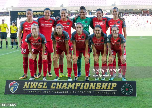 Portland Thorns FC starting 11 during the NWSL soccer Championship match between the North Carolina Courage and Portland Thorns on October 14th 2017...