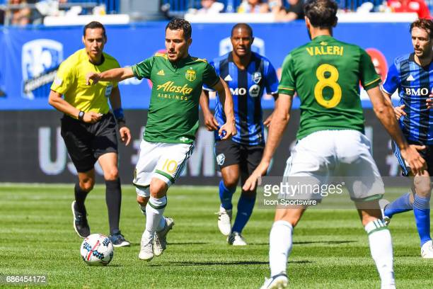 Portland Timbers midfielder Sebastian Blanco getting away with the ball during the Portland Timbers versus the Montreal Impact game on May 20 at...