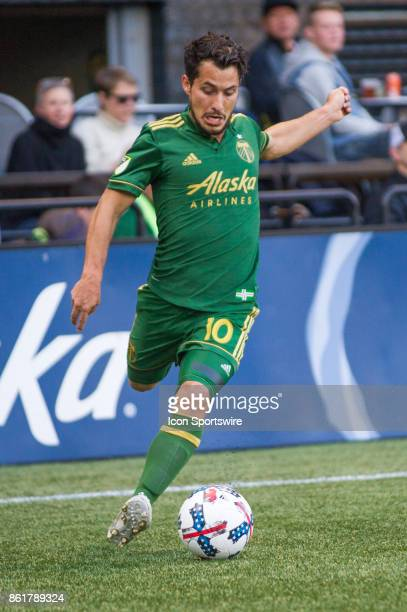 Portland Timbers midfielder Sebastian Blanco takes a cross during the Portland Timbers 40 victory against the DC United on October 15 at Providence...