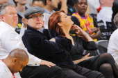 Portland Trail Blazers owner Paul Allen watches the basketball game against the Golden State Warriors on October 18 2010 at Oracle Arena in Oakland...