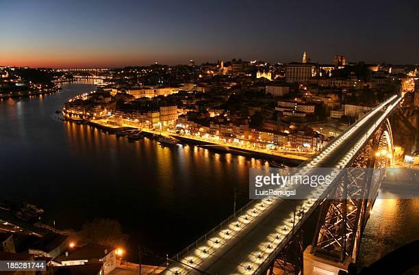 Porto and Bridge D. Luis at Night