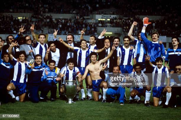 Porto celebrate winning the European Cup for the first time