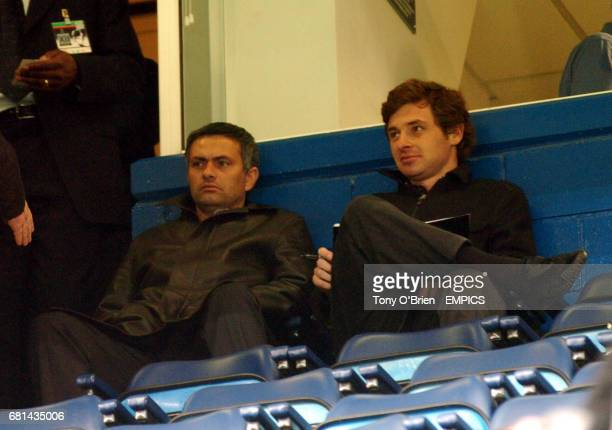 Porto Coach Jose Mourinho at Chelsea to watch the game against Monaco with his scout Andre Villas Boas