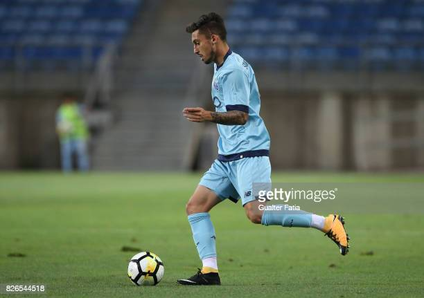 Porto defender Alex Telles from Brazil in action during the PreSeason Friendly match between Portimonense SC and FC Porto at Estadio Algarve on July...