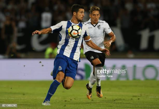 Porto defender Ivan Marcano from Spain in action during the PreSeason Friendly match between Vitoria de Guimaraes and FC Porto at Estadio D Afonso...