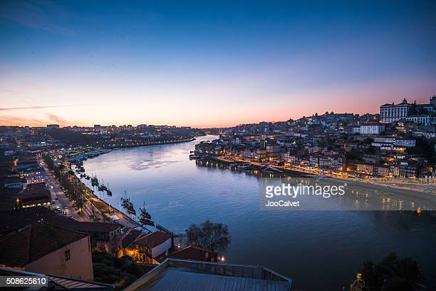 Porto Douro River at sunset